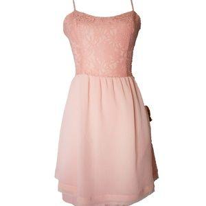 Women's Dress Vera Wang Small Pink Chiffon & Lace
